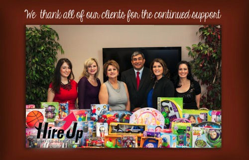 Hire up staff giving to the kids of MDA